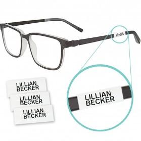 Krympeetiketter til briller...